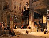 Fabius Germain Brest Followers Inside An Eastern Church painting