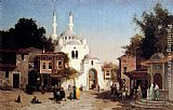 Fabius Germain Brest Outside The Mosque painting