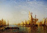Felix Ziem Shipping on the Grand Canal Venice painting