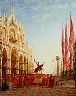 Felix Ziem The Cardinals Procession Venice painting