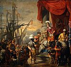 Ferdinand Bol Aeneas at the Court of Latinus painting