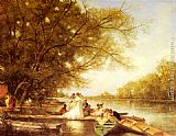 Ferdinand Heilbuth Boating Party on the Thames painting
