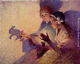 Ferdinand Loyen Du Puigaudeau Chinese Shadows, the Rabbit painting
