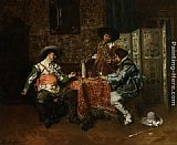 Ferdinand Roybet A Game of Cards painting