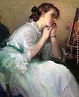 Fernand Toussaint Daydreaming painting