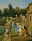 Filippo Indoni Count Borromeos Villa on Isola Betta Opposite Stresa on Late Maggiore painting