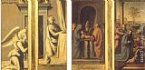 Fra Bartolommeo The Annunciation (front), Circumcision and Nativity (back) painting
