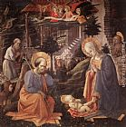 Fra Filippo Lippi Adoration of the Child painting