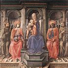 Fra Filippo Lippi Madonna Enthroned with Saints painting