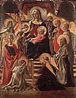 Fra Filippo Lippi Madonna and Child Enthroned with Saints painting
