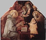 Fra Filippo Lippi The Virgin Appears to St Bernard painting