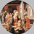 Fra Filippo Lippi Virgin with the Child and Scenes from the Life of St Anne painting