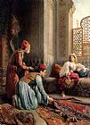 Francesco Ballesio The Carpet Sellers painting