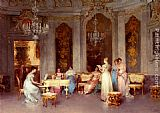 Francesco Beda Parlor Scene painting