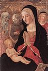 Francesco Di Giorgio Martini Madonna and Child with Saints and Angels painting