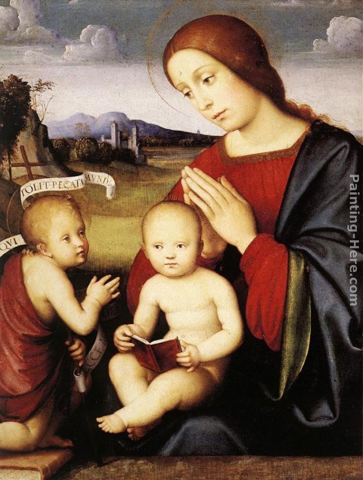 Francesco Francia Madonna and Child with the Infant St John the Baptist