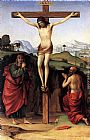 Francesco Francia Crucifixion with Sts John and Jerome painting
