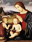 Francesco Francia Madonna and Child with the Infant St John the Baptist painting