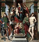 Francesco Francia Madonna and Saints painting