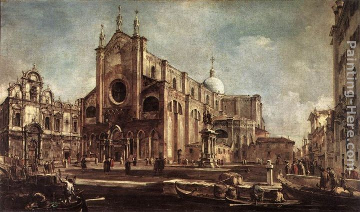 Francesco Guardi Campo Santi Giovanni e Paolo