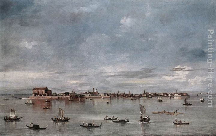 Francesco Guardi San Cristoforo, San Michele and Murano, Seen from the Fondamenta Nuove