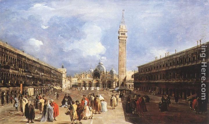 Francesco Guardi The Piazza San Marco towards the Basilica