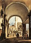 Francesco Guardi An Architectural Caprice painting