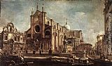 Francesco Guardi Campo Santi Giovanni e Paolo painting
