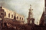Francesco Guardi Carnival Thursday on the Piazzetta painting