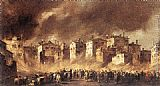 Francesco Guardi Fire in the San Marcuola Oil Depot painting