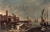 Francesco Guardi Landscape with a Fisherman's Tent painting