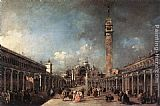 Francesco Guardi Piazza di San Marco painting