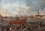 Francesco Guardi The Doge on the Bucintoro near the Riva di Sant'Elena painting