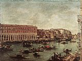Francesco Guardi The Grand Canal at the Fish Market (Pescheria) painting