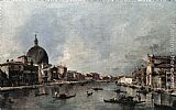 Francesco Guardi The Grand Canal with San Simeone Piccolo and Santa Lucia painting
