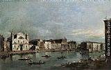 Francesco Guardi The Grand Canal with Santa Lucia and the Scalzi painting