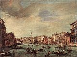 Francesco Guardi The Grand Canal, Looking toward the Rialto Bridge painting