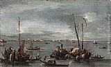 Francesco Guardi The Lagoon Looking toward Murano from the Fondamenta Nuove painting