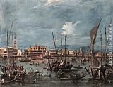 Francesco Guardi The Molo and the Riva degli Schiavoni from the Bacino di San Marco painting