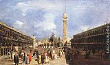Francesco Guardi The Piazza San Marco towards the Basilica painting