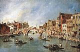 Francesco Guardi The Three-Arched Bridge at Cannaregio painting