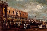 Francesco Guardi Venice, A View Of The Piazzetta Looking South With The Palazzo Ducale painting