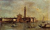 Francesco Guardi View Of The Island Of San Giorgio In Alga, Venice painting