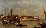 Francesco Guardi View Of The Island Of San Michele Near Murano, Venice painting