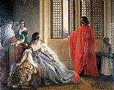 Francesco Hayez Caterina Cornaro Deposed from the Throne of Cyprus painting