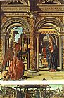 Francesco del Cossa Annunciation and Nativity (Altarpiece of Observation) painting