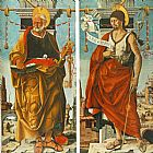 Francesco del Cossa St Peter and St John the Baptist (Griffoni Polyptych) painting