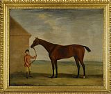 Francis Sartorius Portrait of Henry Comptons Race Horse Highflyer Held by a Groom painting