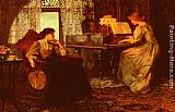 Francis Sidney Muschamp The Piano Lesson painting