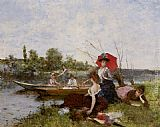 Francisco Miralles The Boating Party painting